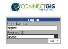 Image of the login screen for ConnectGIS