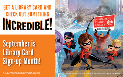 Disney Pixar&#39s Incredible characters promote library cards