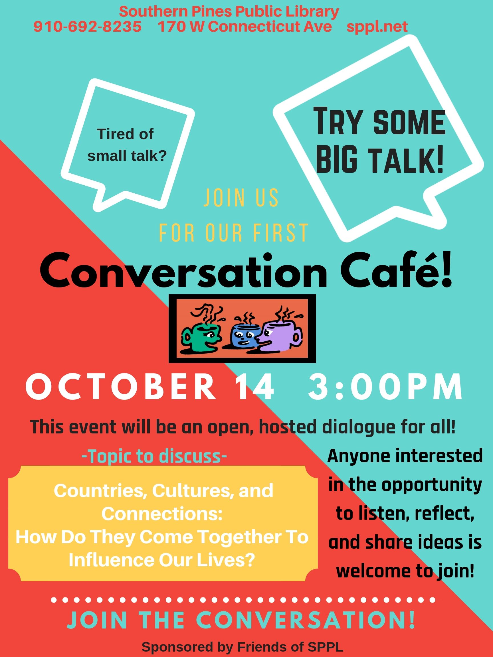 Conversation Cafe at SPPL