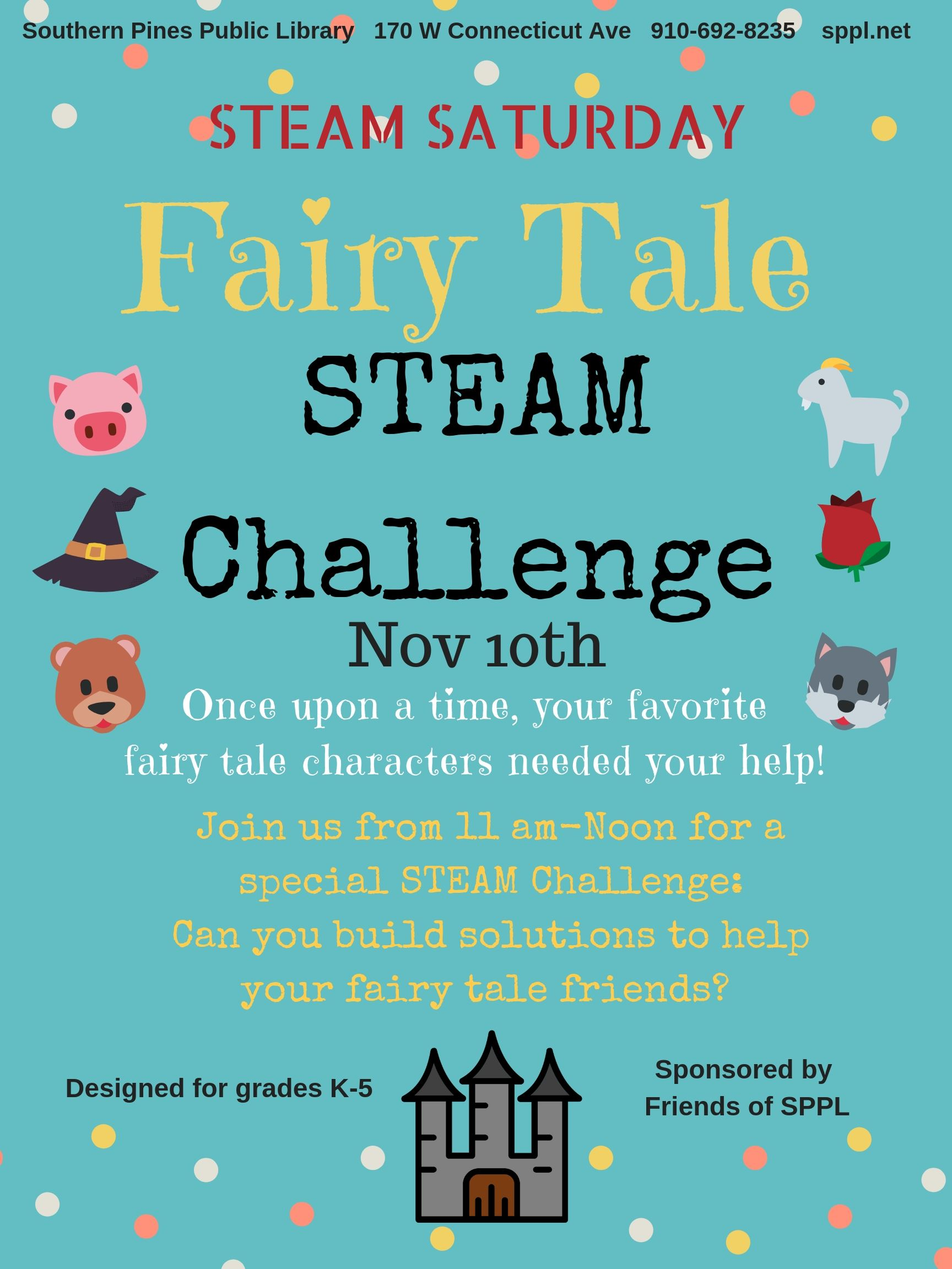STEAM Sat- Fairy Tale Challenge
