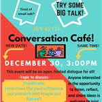 Conversation Cafe rescheduled