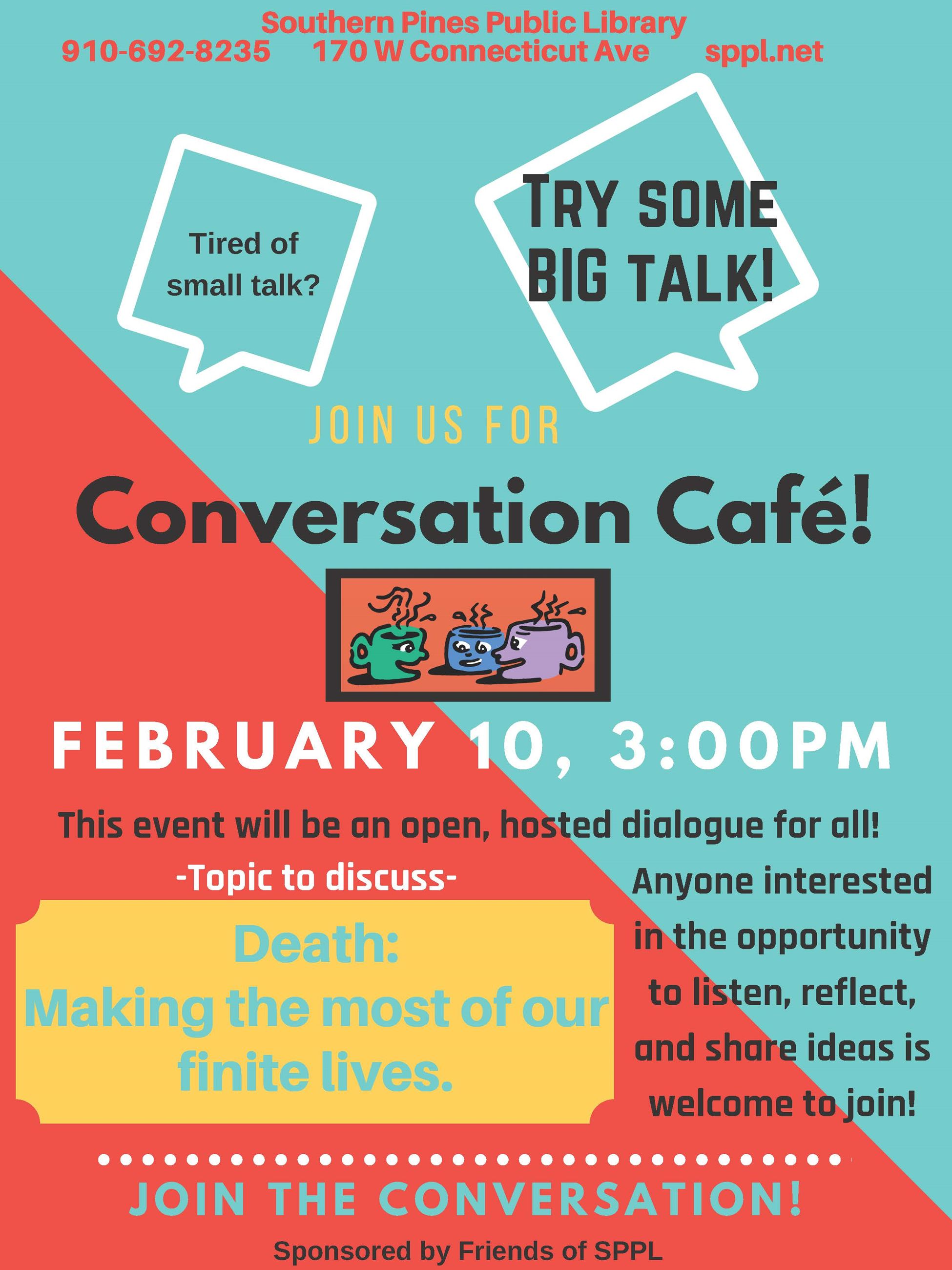 Conversation Cafe Information for February