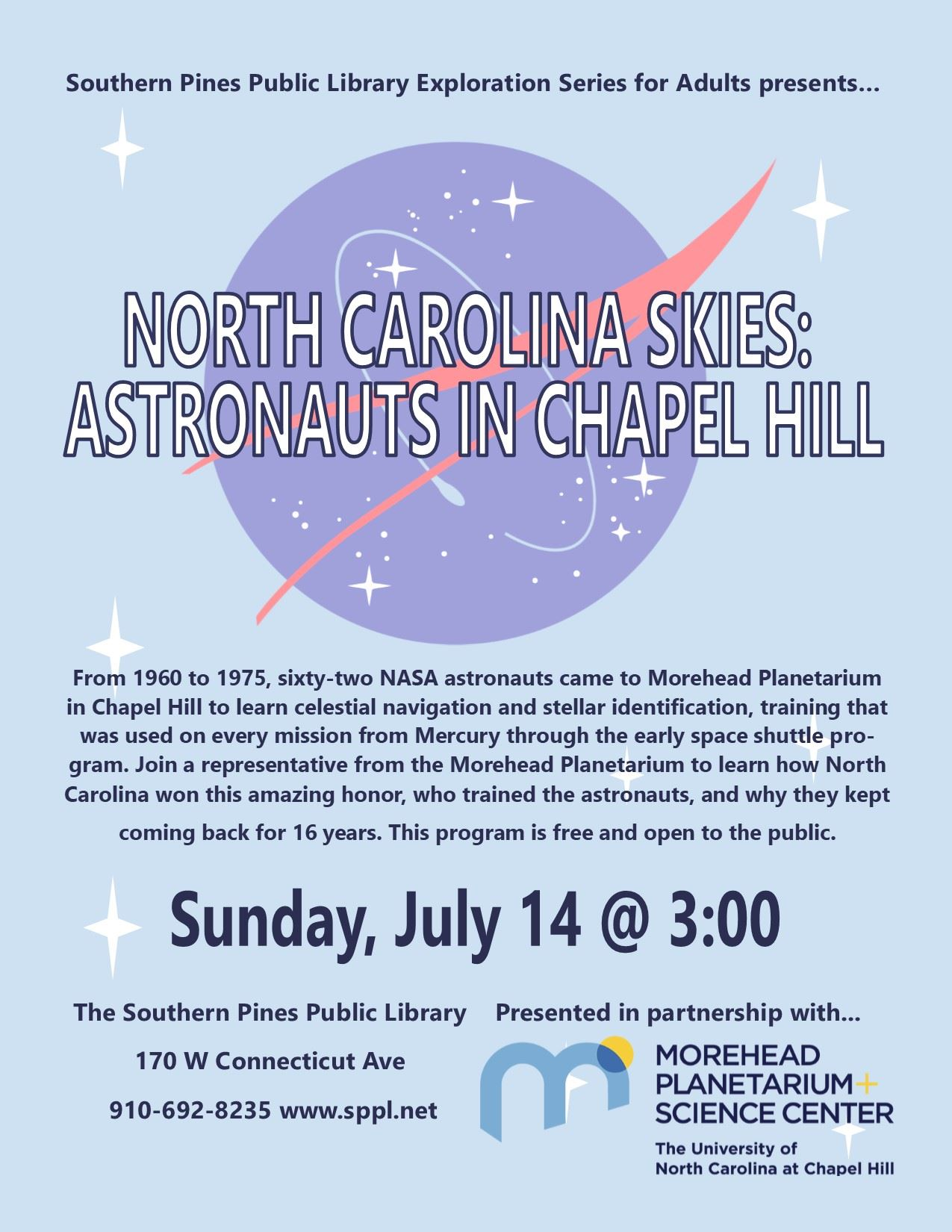 Explorations North Carolina Skies Flier