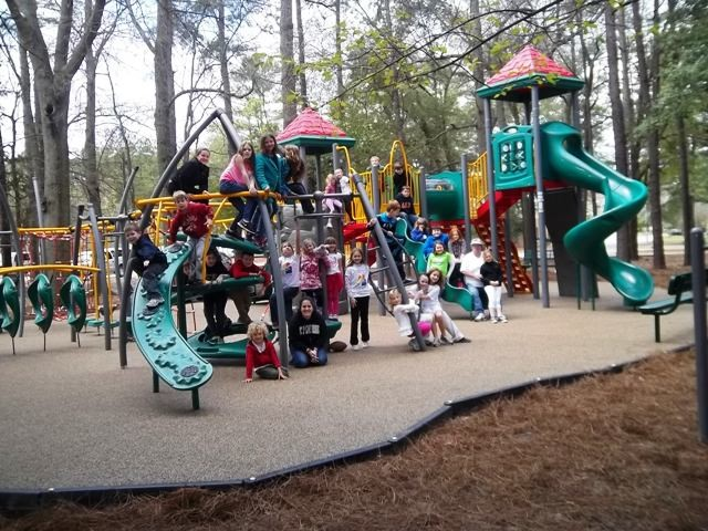 Children on Memorial Park Playground